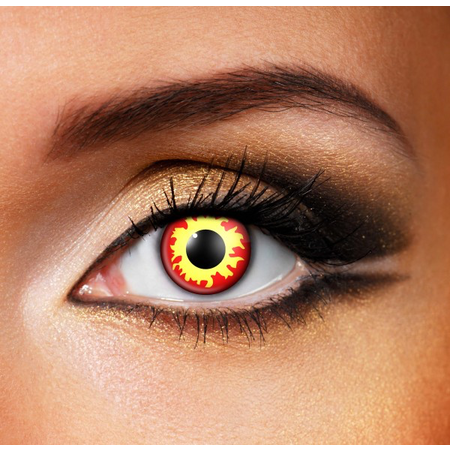 Funky Cosmetic CRAZY - Flame Eye accessories 3 MONTH