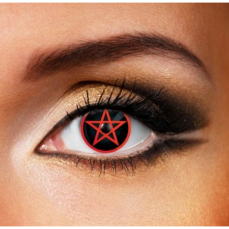 Funky Cosmetic CRAZY - Red Pentagram Eye accessories 3 MONTH