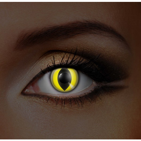 Funky Cosmetic IGLOW - Yellow Cat UV Neon Eye accessories 3 MONTH