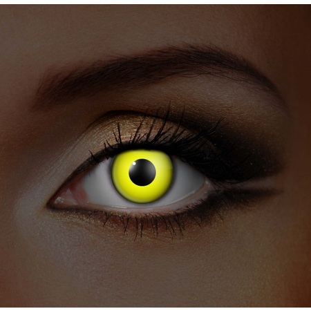 Funky Cosmetic GLOW - Yellow UV Neon Eye accessories 3 MONTH