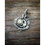 GOOD VIBRATIONS SUN AND MOON PENDANT IN 925 SILVER WITH BRASS INLAY  BY GOOD VIBRATIONS