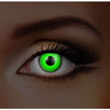Funky Cosmetic COMPLETE PACK - UV Neon Green Eye accessories 3 MONTH