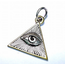 GOOD VIBRATIONS ALL SEEING EYE TRIANGLE PENDANT IN 925 SILVER