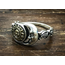 GOOD VIBRATIONS SUN AND MOON RING IN 925 SILVER WITH BRASS DETAIS BY GOOD VIBRATIONS