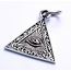 GOOD VIBRATIONS ALL SEEING EYE PENDANT 925 SILVER WITH BRASS INLAY