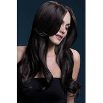 Fever Khloe Wig, Brown, Long Wave with Centre Parting