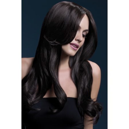 FEVER Fever Khloe Wig, Brown, Long Wave with Centre Parting