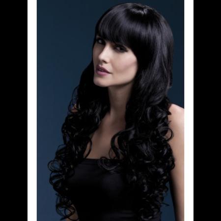 FEVER Fever Isabelle Wig, Black, Long Soft Curl with Fringe