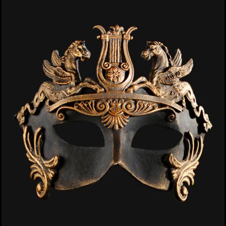 Colombina Barocco Cavalli Barroc horse Bronze Venetian Mask
