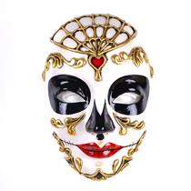 Volto Morte Red Venetian Mask