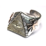 GOOD VIBRATIONS ALL SEEING EYE TRIANGLE RING IN 925 SILVER WITH SOLID BRASS DETAILS