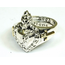 GOOD VIBRATIONS OPEN  SACRED HEART RING WITH GOLD DETAILS