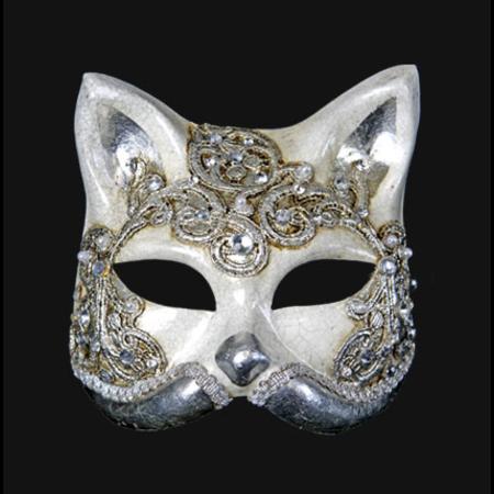 Gatto Macramè Craquelè Silver Cat