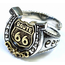 GOOD VIBRATIONS HOURSESHOE RING WITH GOLD ROUTE 66