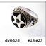 GOOD VIBRATIONS GOLD STAR RING WITH FACES