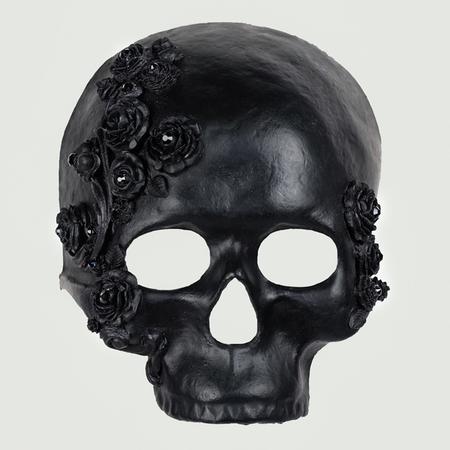 Teschio  ROSE Skull BLACK