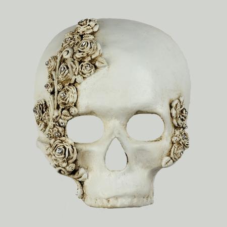 Teschio ROSE Skull WHITE