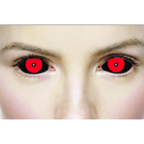 1 YEAR SCLERA HELLISH BLACK AND RED