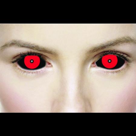 Mesmereyez 1 YEAR SCLERA HELLISH BLACK AND RED