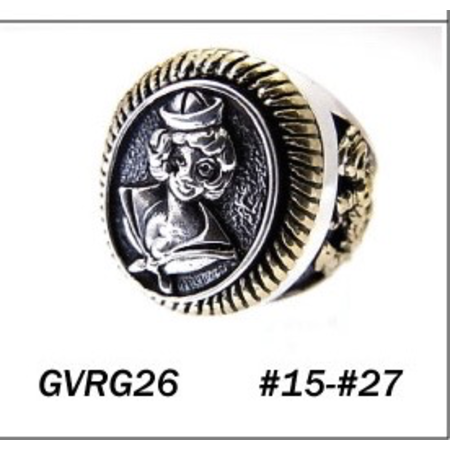 GOOD VIBRATIONS SAILOR RING SILVER WITH GOLD DETAILS