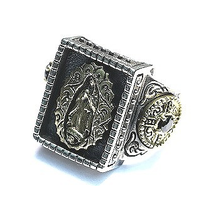 Lady of Guadalupe ST MARIA RING IN 925 SILVER