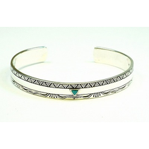 AZTEC BANGLE WITH TURQ TRIANGLE