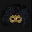 Colombina Piume Reale Macramè Gold Black