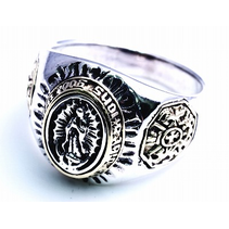 ST MARIA CARTEL RING 925 SILVER WITH BRASS INLAY
