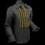 Pete Chenaski Chenaski Ruffle Mens Shirt Rusche Black (Gold Trim)