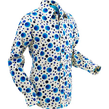 Pete Chenaski Chenaski Mens Shirt Dots & Spots Blue