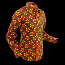 Chenaski Mens Shirt Flower Grid - P-38630