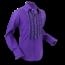 Pete Chenaski Chenaski Ruffle Mens Shirt Rusche  Purple (Grey Trim)