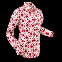 Chenaski Mens Shirt Dots & Spots Red