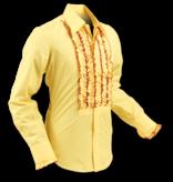 Pete Chenaski Chenaski Ruffle Mens Shirt Rusche Yellow (Bordeaux Trim)