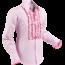 Pete Chenaski Chenaski Ruffle Mens Shirt Rusche  Rose Pink (Dark Pink Trim)