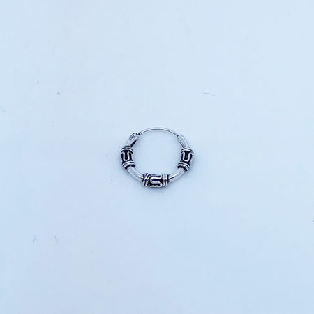 SO HIGH SILVER sleeper 97 - 12 mm silver bali wrapped hinged