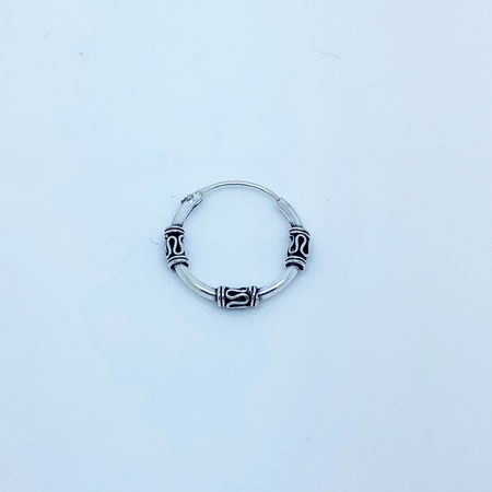 SO HIGH SILVER sleeper 98 - 14 mm silver bali wrapped hinged