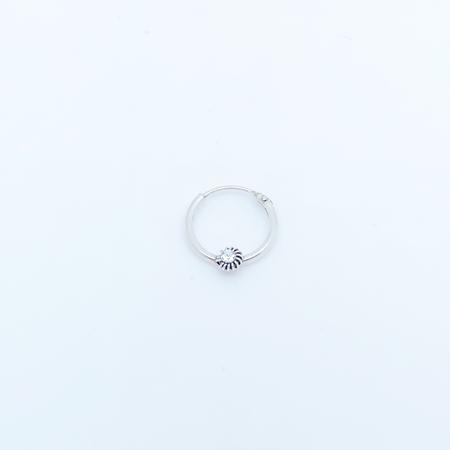 SO HIGH SILVER sleeper 102 - 12 mm diamonte silver hinged