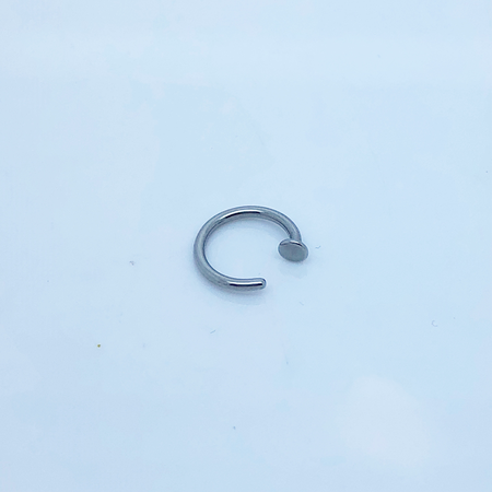 SO HIGH SILVER sleeper 8 - 9 mm  x .8MM mm nail head stainless steel