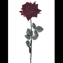 SILK SINGLE VELVET OPEN ROSE RED