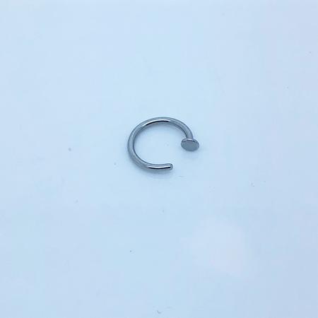 SO HIGH SILVER sleeper 7 - 10 mm nail head stainless steel  1.0MM GAUGE