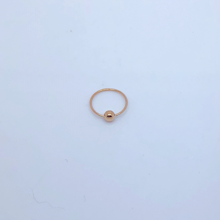 SO HIGH SILVER sleeper 143 - SILVER BALL CLOSER HOOP WITH ROSE GOLD PLATE 10MM