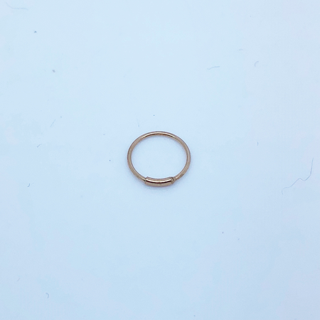 SO HIGH SILVER sleeper 138 - BAR CLOSER SILVER  WITH ROSE GOLD PLATE 10MM