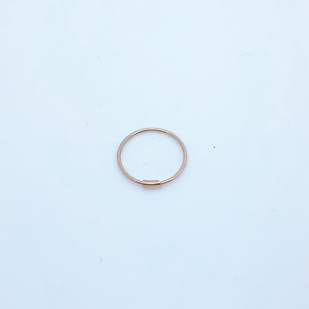 SO HIGH SILVER sleeper 139 - BAR CLOSER SILVER  WITH ROSE GOLD PLATE 12MM