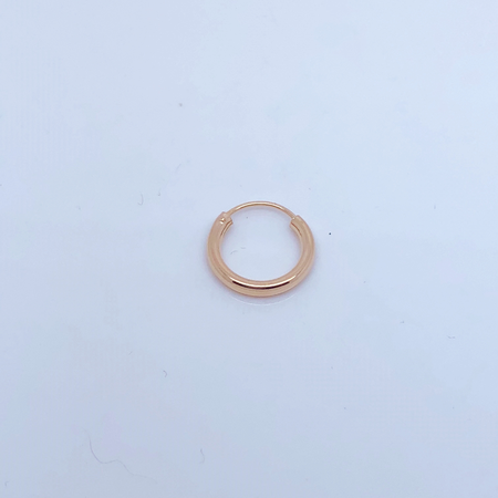 SO HIGH SILVER sleeper 141- 14  mm hinged silver HOOP WITH ROSE GOLD PLATE
