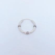 sleeper 125 - 24 mm silver wired bali hinged