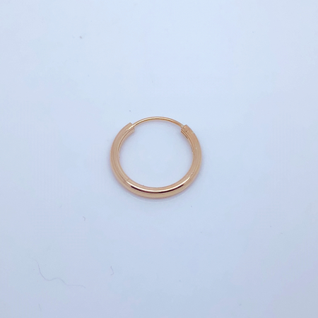 SO HIGH SILVER sleeper 142- 18 mm hinged silver HOOP WITH ROSE GOLD PLATE