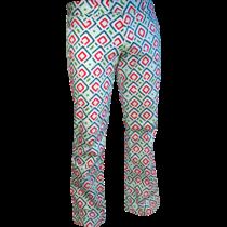 Chenaski Flare Trousers Diagonal Square mint.