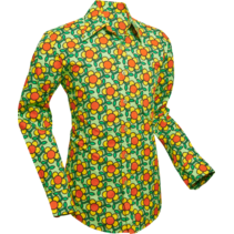 Chenaski Flowergrid Shirt Green