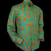 Chenaski Ltd Mens Shirt Moloko ORANGE BLUE